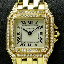 Cartier Panthere Lady, 18 kt yellow gold, bezel and case diamonds