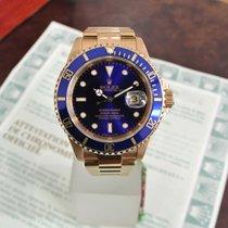 Rolex Submariner Oro Blu 16618