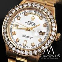 Rolex Presidential Rolex 18038 Quickset 18k Yellow Gold White...