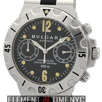 Bulgari Scuba Chronograph Stainless Steel Black Dial