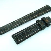 Breitling Band 16mm Croco Schwarz Black Negra Strap Für...