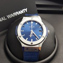 Hublot Classic Fusion  Blue Titanium Mens WATCH 565.NX.7170.LR