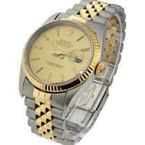Rolex Used 16233_champ_stick_Used Mes 2-Tone Datejust with...