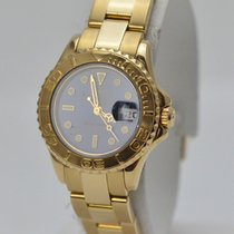 Rolex Lady Yacht-Master 18K Yellow Gold Blue Dial Ref 169628