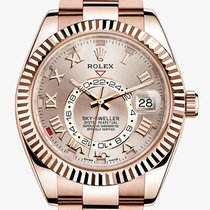 Rolex Oyster Perpetual Sky-Dweller Rose Gold Sundust Dial