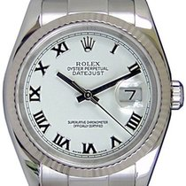 Rolex Datejust 36 116234-WHTRFO White Roman Fluted White Gold...