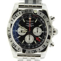 Breitling Chronomat 47 GMT Black Dial Stainless Steel