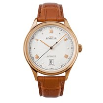 Fortis TERRESTIS 19FORTIS a.m. Gold  AM Automatic Roman 9021322