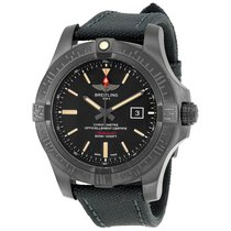 Breitling Avenger Blackbird Black Dial Canvas Military Strap...