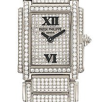 "Patek Philippe Lady's Twenty 4 ""24"" White Gold..."