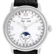 Blancpain Leman Day Date Month Moonphase Men's Steel Watch...
