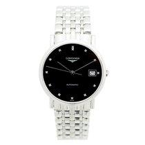 浪琴 (Longines) Elegant Stainless Steel Black Automatic L4.809.4...