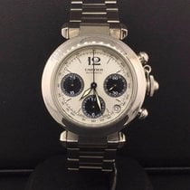 Cartier Pasha C Chronograph 35mm Stainless Steel Silver Dial...