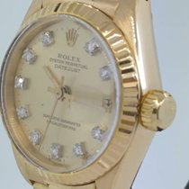 Rolex Oyster Perpetual Datejust  Diamond ref 6927 Yellow  Gold