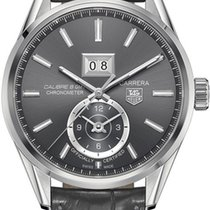 TAG Heuer CAL.8 GMT GRANDE DATE ANTHRACITE DIAL,ALLIGATOR STRAP
