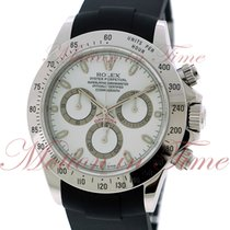Rolex Cosmograph Daytona, White Dial - Stainless Steel on Strap