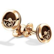 Breguet Cufflinks Rose Gold Enamel 9907.BR.EC