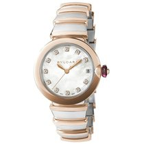 Bulgari Lucea 33mm Stainless Steel and Rose Gold