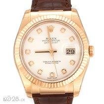Rolex Datejust 116135 Roségold Diamant  ungetragen Papiere...