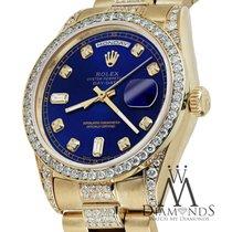 Rolex Presidential Day Date 36mm Blue Tone Dial Diamond Watch...
