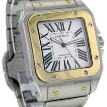 Cartier Santos 100 XL Auto Men 18kt Yellow Gold & Steel...