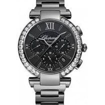 Chopard 388549-3006 Imperiale Chrono All Black - Diamond Bezel...