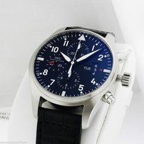 IWC 43mm Stainless Steel IW377701 Black Dial Auto Chrono...