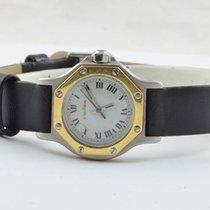 Cartier Santos Ronde Octagon Damen Uhr Automatik Stahl/750...