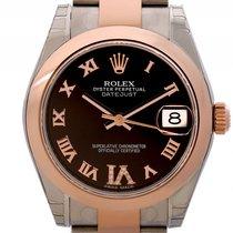 Rolex Datejust Medium Stahl/Roségold Everose Oyster Armband...