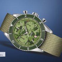 Eberhard & Co. Contograf cinturino in pelle verde,...