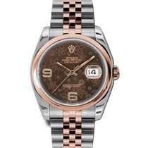 Rolex Unworn 116201 2-Tone Rose Gold Datejust with Smooth...