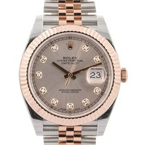 Rolex Datejust II 41mm In Acciaio E Oro Rosa 18kt Con Diamanti...