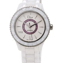 Dior VIII White Ceramic and Steel Amethyst Ladies Watch...