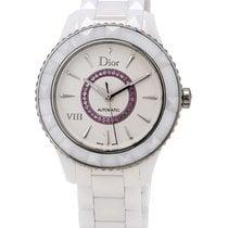 Dior VIII White Ceramic and Steel Amethyst Ladies Watch...