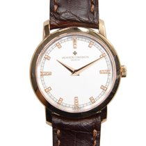 Vacheron Constantin Traditionnelle 18k Pink Gold Silvery White...