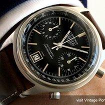 Heuer Rare Heuer Verona Automatic Chronograph with black dial...
