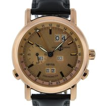 Ulysse Nardin Gmt +/- Perpetual 18kt Rose Gold Rose Dial On...