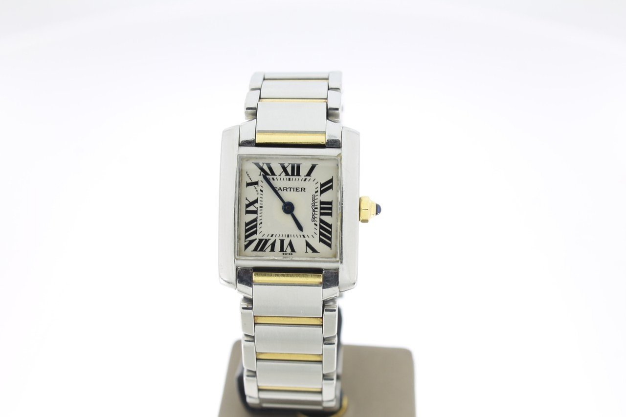 Cartier Tank Française Lady Steel Gold (BOXonly2005) 20mm za Kč 55 095 k  prodeji od Trusted Seller na Chrono24 f1cd6ec497