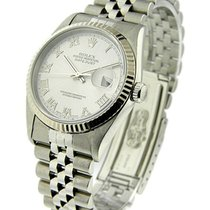 Rolex Used 16234_use_rhodium_roman Mens DATEJUST with Jubilee...