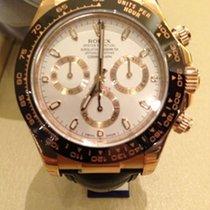 Rolex Daytona Ref.116515LN Weißes Zifferblatt / Lederband