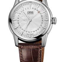 Oris Artelier Pointer Date Crocodile Leather Bracelet