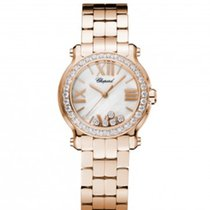 Chopard 274189-5007 Happy Sport30mm Gold Diamonds Pearl Lady