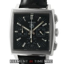 TAG Heuer Monaco Chronograph Stainless Steel Black Dial 38mm
