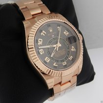 Rolex Sky Dweller 326935 Oyster Perpetual Rose Gold Chocolate...