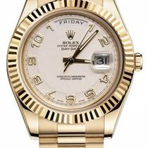 Rolex Day-Date II 41mm President Yellow Gold Ivory Dial