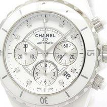 Chanel Polished Chanel J12 Chronograph Diamond Ceramic...