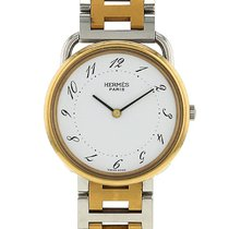 Hermès Arceau en plaqué or et acier Vers 1990