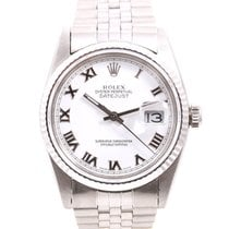 Rolex Mens Quickset Datejust - White Roman Numeral Dial  -...