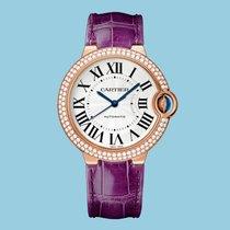 Cartier BALLON BLEU DE CARTIER 36 mm Rotgold Violett Diamanten...