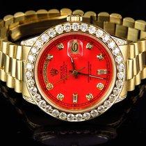 Rolex Mens 36 MM Rolex President 18038 18k Yellow Gold...